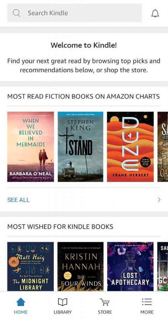 Подписка Amazon Kindle
