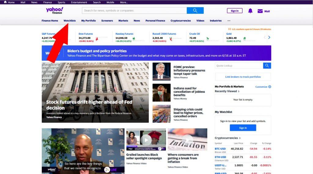 Как пользоваться Yahoo Finance