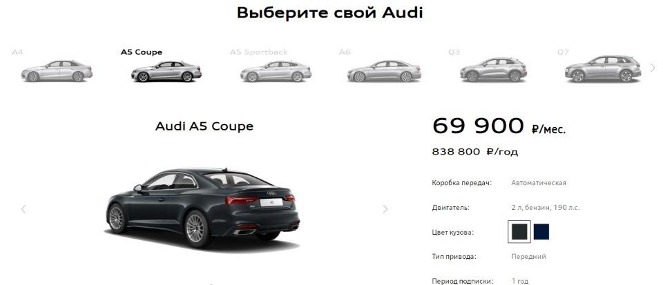 Цены Audi Drive